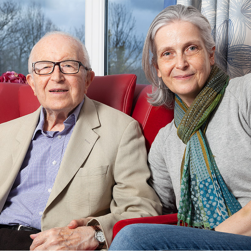 Elderly Couple at care home