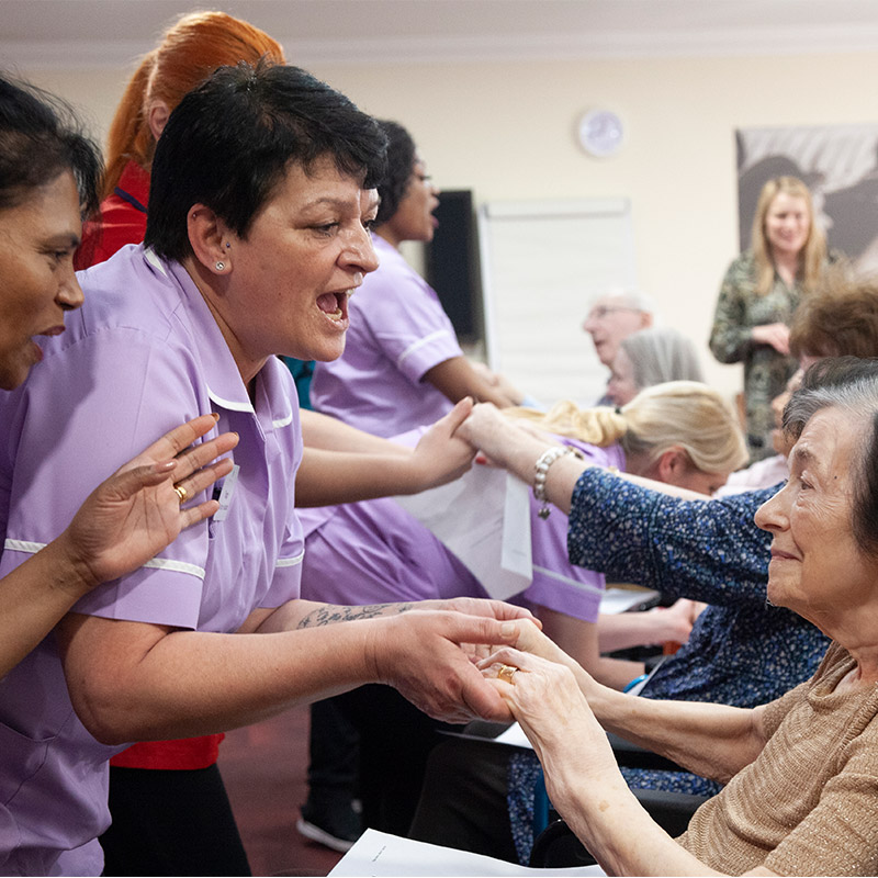 Leisure time at care home